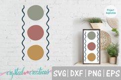 Triple Circle Boho SVG, DXF, PNG, EPS Product Image 1