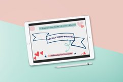 Doodle Stamps for Procreate - Banners, Shapes, Hearts Arrows Product Image 1