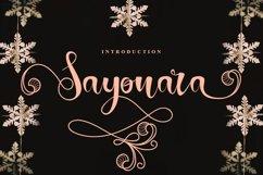 Sayonara | Beautiful Script Font Product Image 1