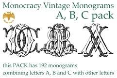 Monocracy Vintage Monograms Pack ABC Product Image 1