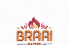 Braai BBQ Master Flamed Embroidery Download Design Product Image 4