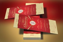 Red Gold Anniversary Gala Ticket Template Product Image 1