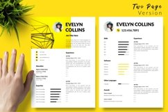 Modern Resume CV Template for Word & Pages Evelyn Collins Product Image 3