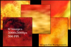Dragon Fire Backgrounds - 12 Image Textures Set Product Image 2