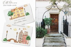 Old houses watercolor clipart Product Image 6