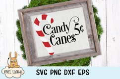Candy Canes 5 Cents Sign SVG Product Image 1