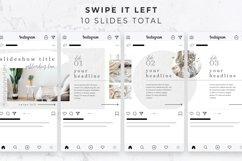 Instagram Post Carousel for Canva   Slideshow   White Linen Product Image 4