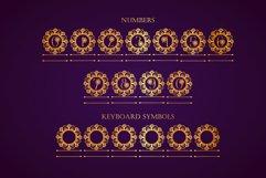 Flower Mandala Monogram Font Product Image 7