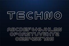 Modern futuristic english alphabet Product Image 1