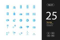 Survey Icon Gradient SVG, EPS, PNG Product Image 1