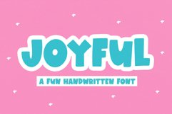 Joyful - A Fun Handwritten Font Product Image 1