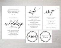 Wedding invitation set portrait, TOS_35 Product Image 2