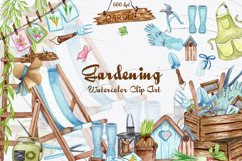 Gardening Watercolor Clipart Product Image 1