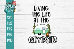 Living Life At the Campsite Hitch SVG Product Image 2