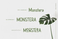 Leafy Plant Typeface Product Image 3