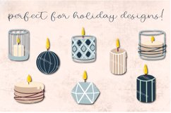 Candles SVG   Burning candle clipart   Files for cricut Product Image 2