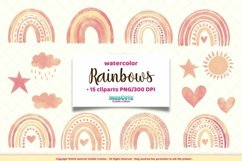 Watercolor Rainbows Clipart Product Image 1