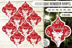 Arabesque Reindeer Names Svg Bundle. Tile Ornament Svg. Product Image 1