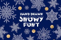 Handdrawn snowy display font Product Image 1
