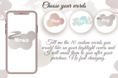 Pastel color Flower instagram highlight icons, aesthetic Product Image 3