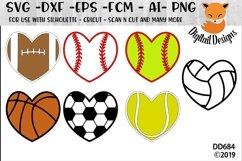 Sports Hearts Design Bundle SVG Product Image 1