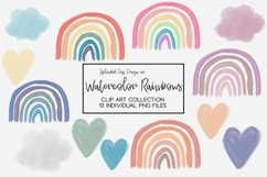 Watercolor Rainbow clip art collection Product Image 1