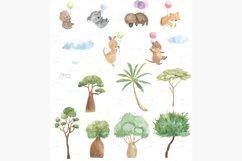 Australian animals clipart. Watercolor koala, kangaroo, etc. Product Image 2