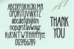 Web Font Curtains -Tall Handlettered Font Product Image 6