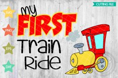 First train ride svg, Kids Train ride, Train engive svg Product Image 1