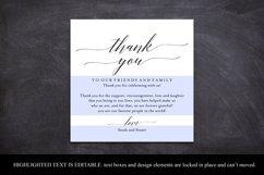Wedding Thank You Card, Thank You Printable, Wedding Table Product Image 4