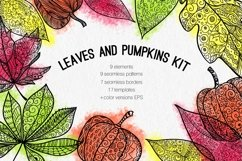Leaves and pumpkins kit EPS Product Image 1