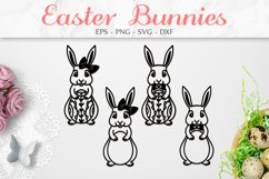 Easter Bunny SVG, Easter Decorations, Easter Clipart SVG Product Image 1