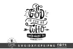 If God Is For Us Who Can Be Against Us SVG   Bible Verse SVG Product Image 1