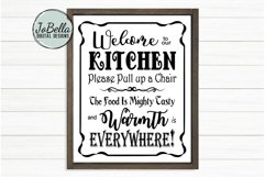 Welcome To Our Kitchen SVG and Printable Farmhouse Design Product Image 1