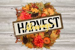 Harvest Blessings Cut File - SVG & PNG Product Image 2
