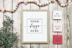 Valentine Sign Mockup Bundle Rustic Farmhouse Style Frame Product Image 3