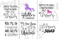 Unicorn Bundle-svg,dxf,png,jpg-Instant Digital Download Product Image 1