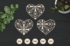 Mandala heart paper cut template | SVG layered hearts bundle Product Image 5
