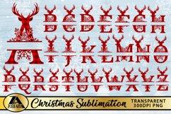 Alphabet Monogram PNG Bundle Christmas Monogram Sublimation Product Image 5