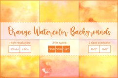 Orange Backgrounds , Sublimation Watercolor Background PNG Product Image 1