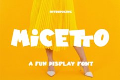 Micetto - Fun Display Font Product Image 1