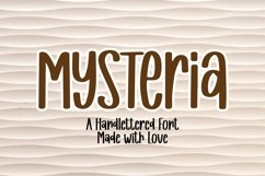 Web Font Mysteria - A Handlettered Font Product Image 1