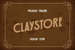 Web Font Claystore Font Product Image 1