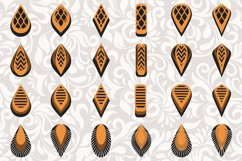 172 Earrings template SVG - Cut files - Leather earrings SVG Product Image 3