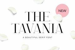 Tavania Font Product Image 1
