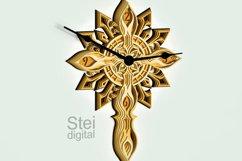 Cross Wall Clock design dxf, Cricut svg, laser cutting file. Product Image 3