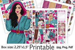 "Christmas Printable Sticker BoxSize 2,25""x1,5"" Product Image 1"