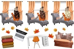 FALL CLIPART - AUTUMN GIRL BOSS, Planner Graphics Product Image 7