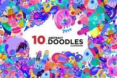 10 Abstract Doodle Illustrations Product Image 1