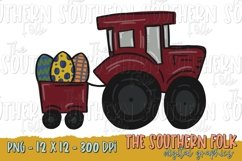 Easter Tractor PNG File, Sublimation Design Product Image 1
